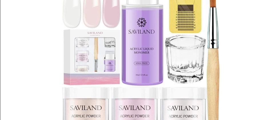 Saviland Acrylic Powder and Liquid Set - Professional Monomer Liquid acrylic pow