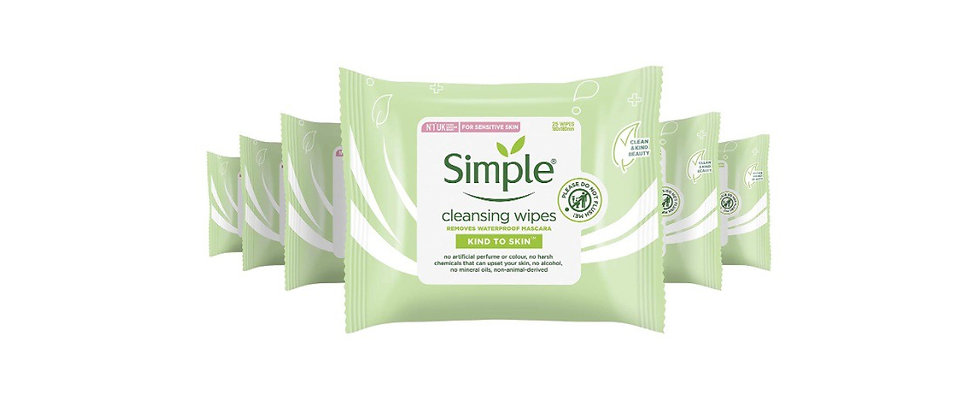 Simple Kind to Skin Cleansing UK's #1 facial skin care brand* Facial Wipes for s