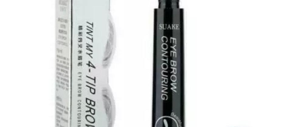 4- Fork Tip Eyebrow MakeUp Pen - Water proof