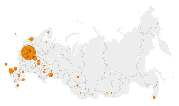 География российских участников НМШ ВИЭ