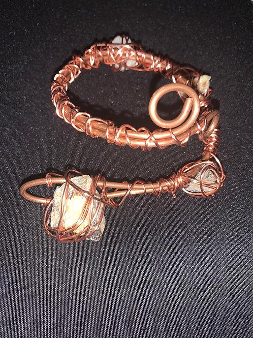 Citrine Copper Arm Cuff