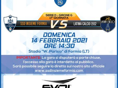 17° di Campionato - Insieme Formia Vs Latina Calcio