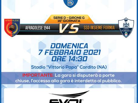 16° di Campionato - Afragolese Vs Insieme Formia