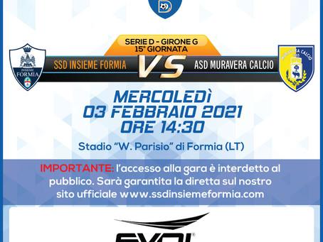 15° di Campionato - Insieme Formia Vs Muravera Calcio