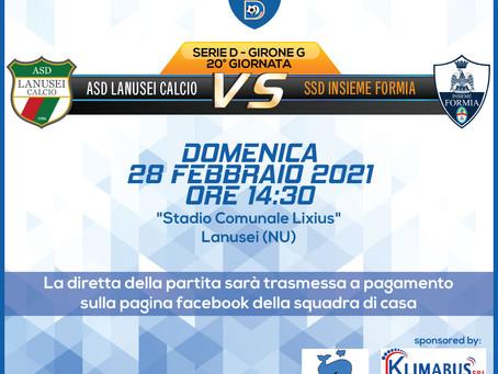 20° di Campionato - Lanusei Vs Insieme Formia