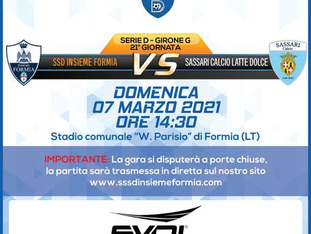 21° di Campionato - Insieme Formia Vs Sassari Latte Dolce