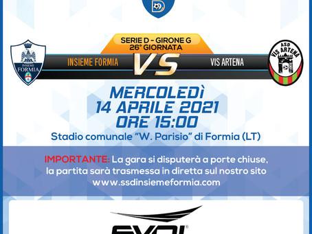 26° di Campionato - Insieme Formia Vs Vis Artena