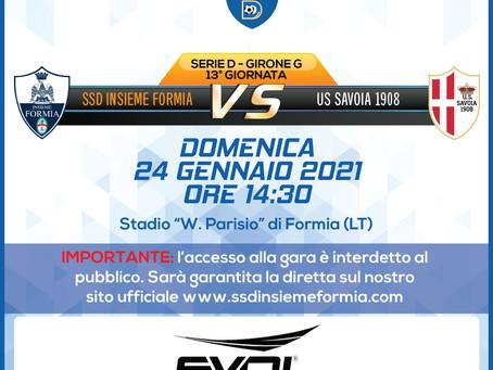 13° di Campionato - Insieme Formia vs Savoia