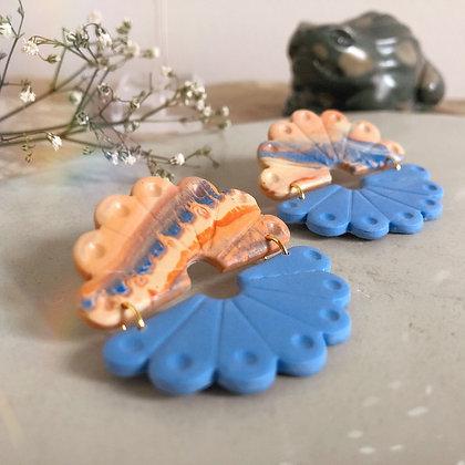 HETTY - Terracotta and Classic Blue