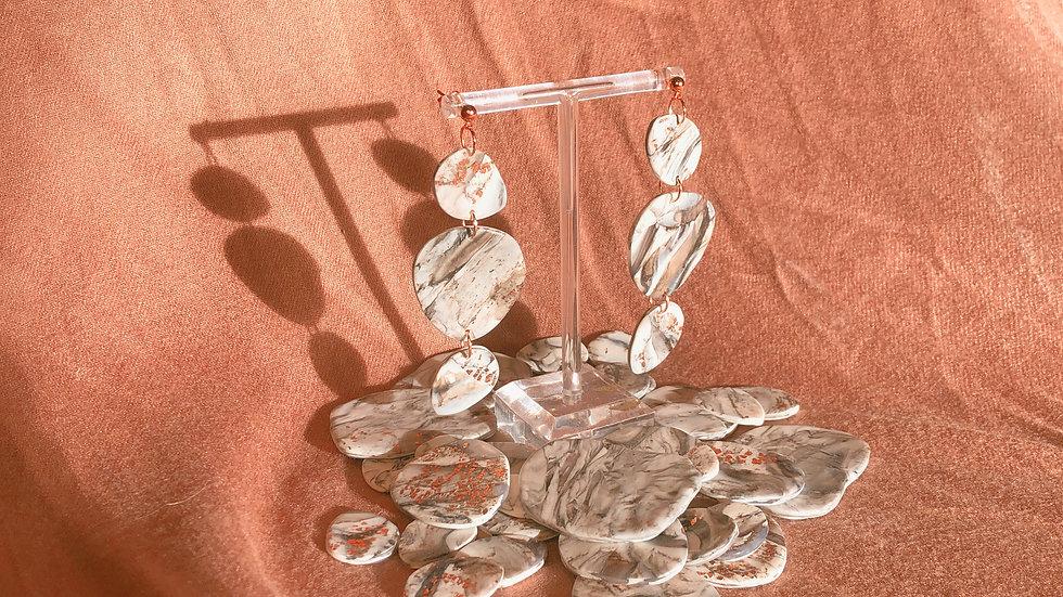 AMELIA - Monochrome Howlite & Rose Gold