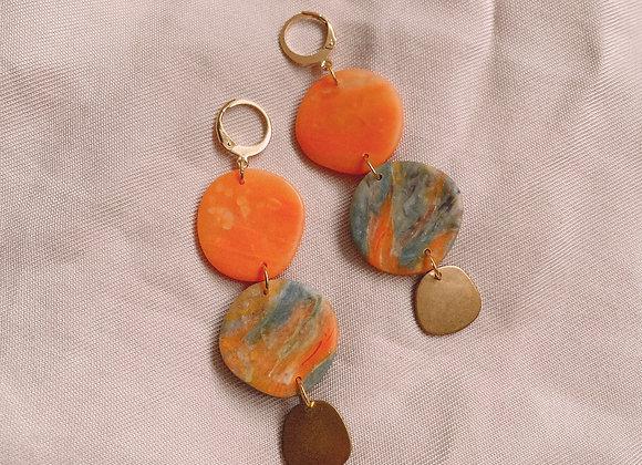 JULIENNE - Orange and Van Gogh Onyx