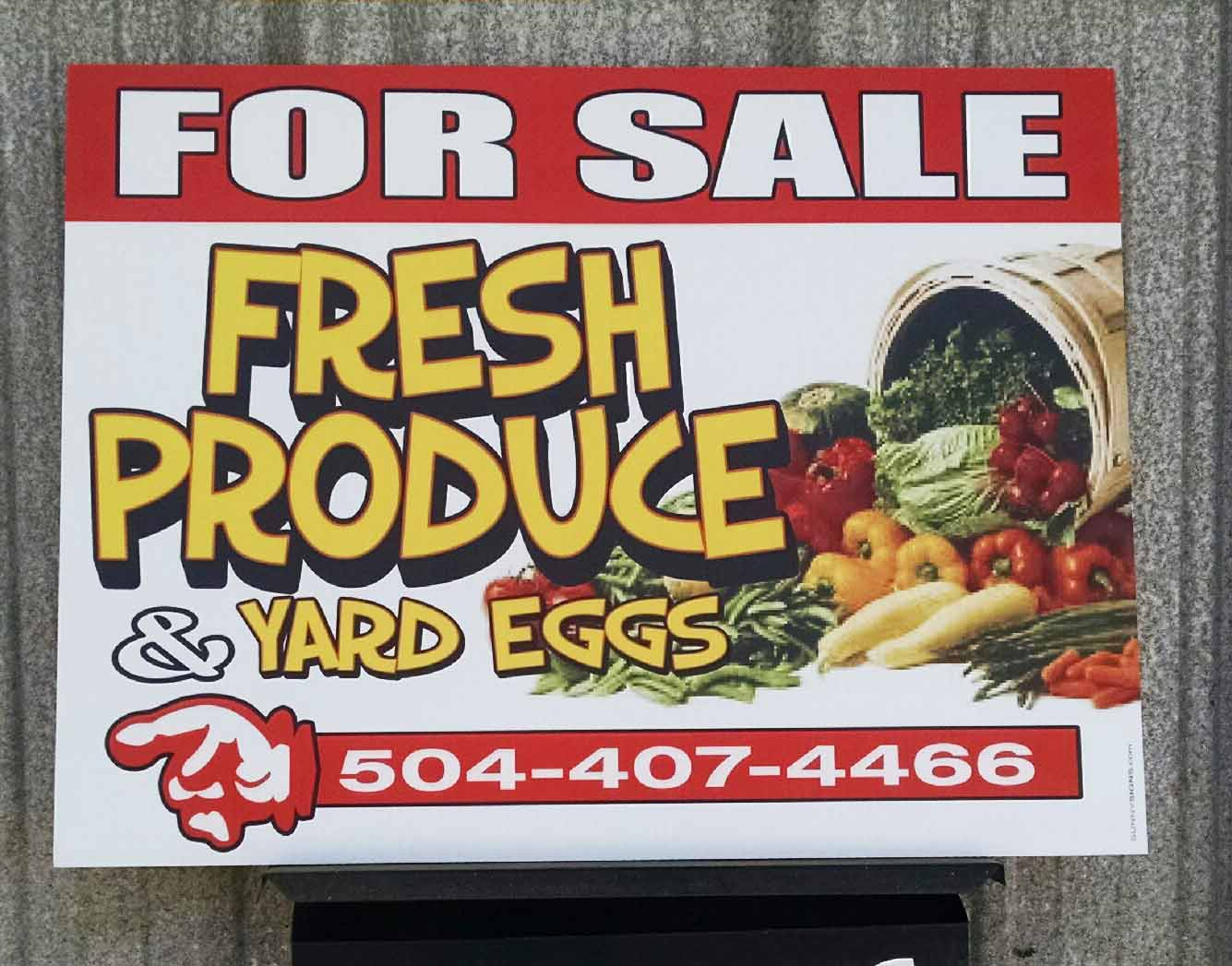 Produce Sign