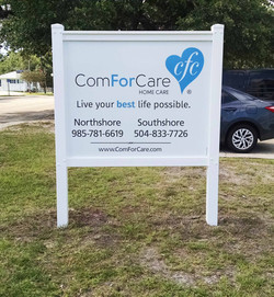 Aluminum Sign with PVC Frame