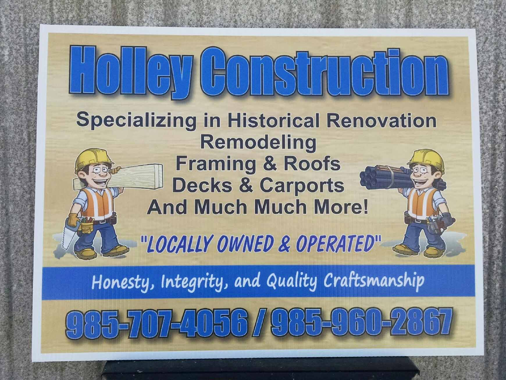 Job Site Corrugated Plastic Sign