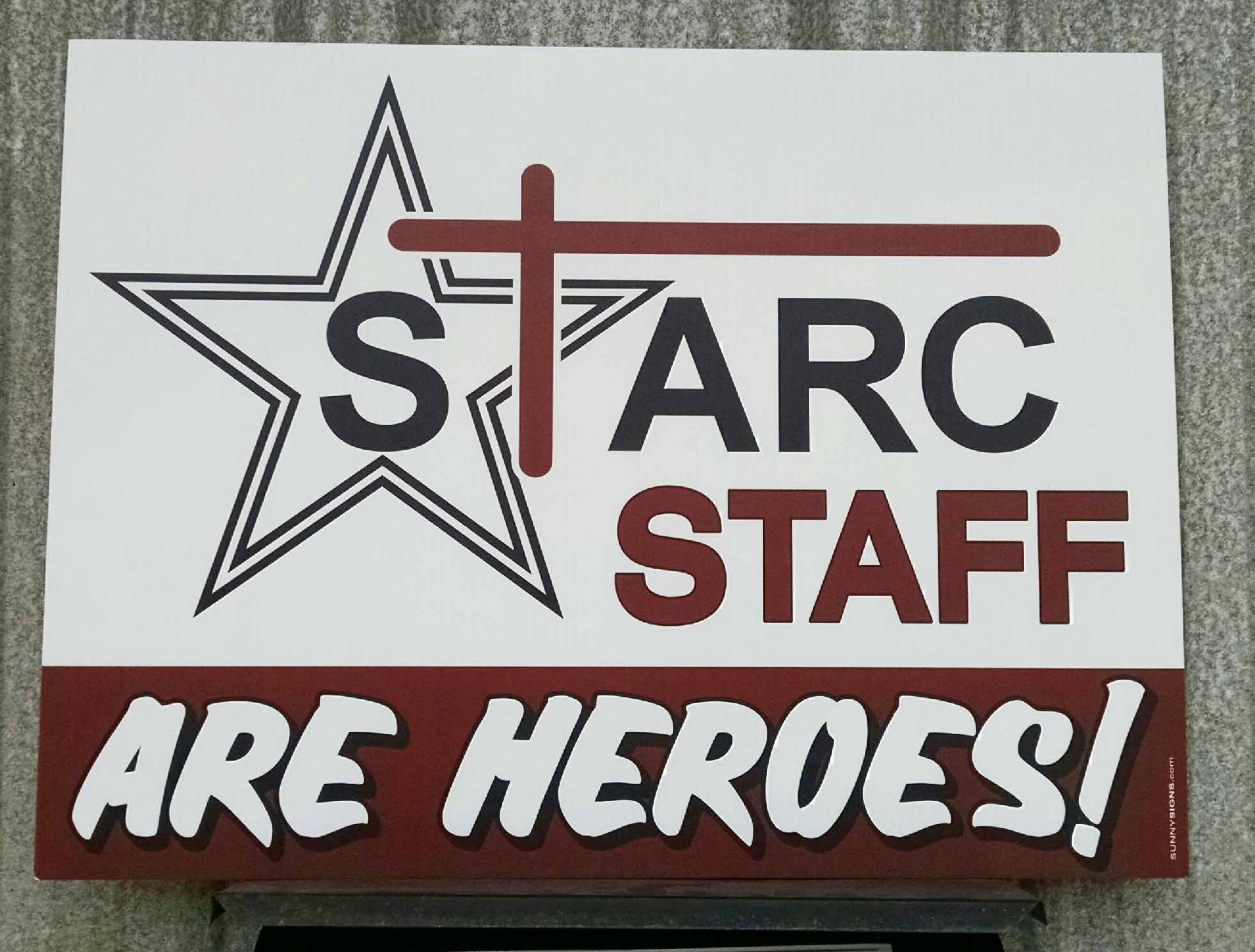 Staff Hero Sign