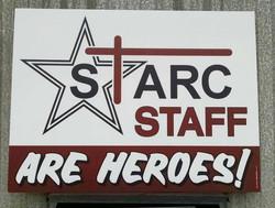 Staff Hero Sign