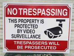 Dibond Sign - No Trespassing