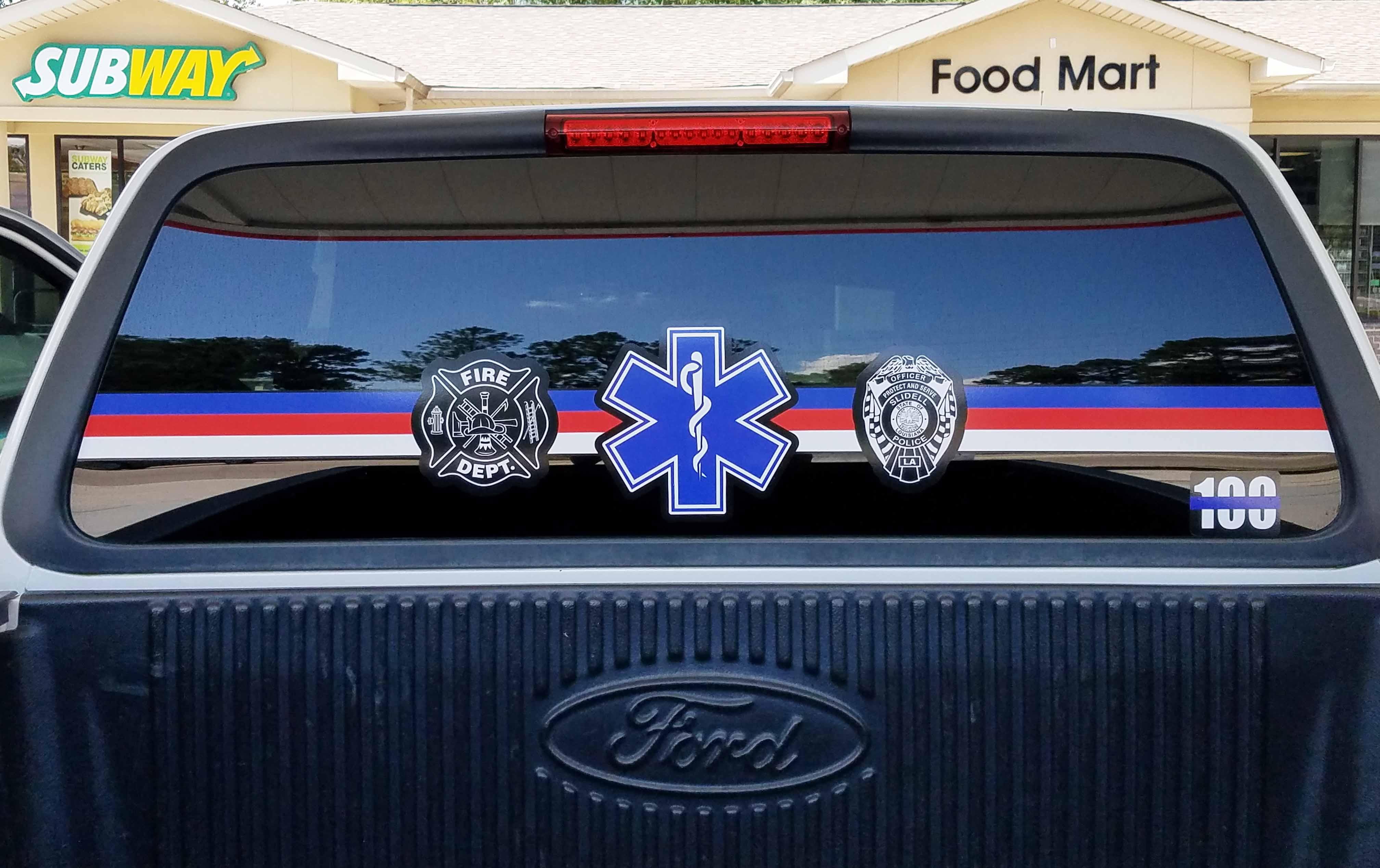 Truck glass lettering