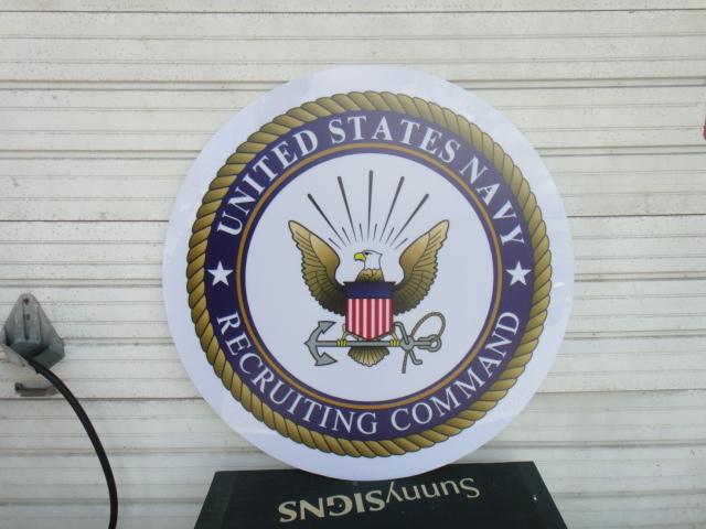US Navy Flat Lexan Logo