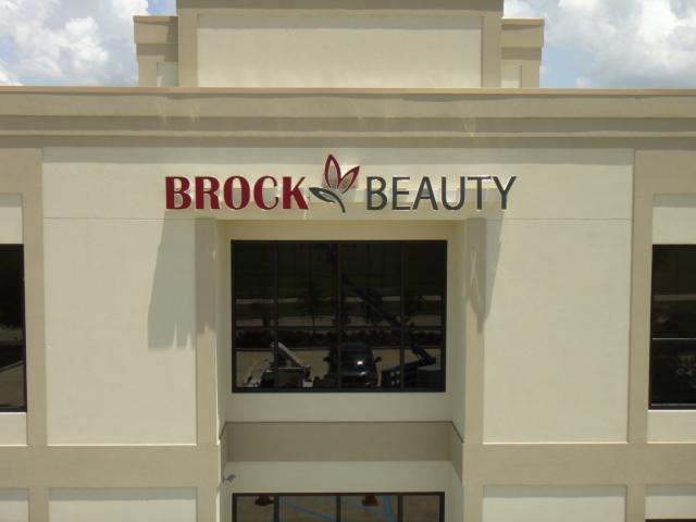 Brock Beauty Channel Letters