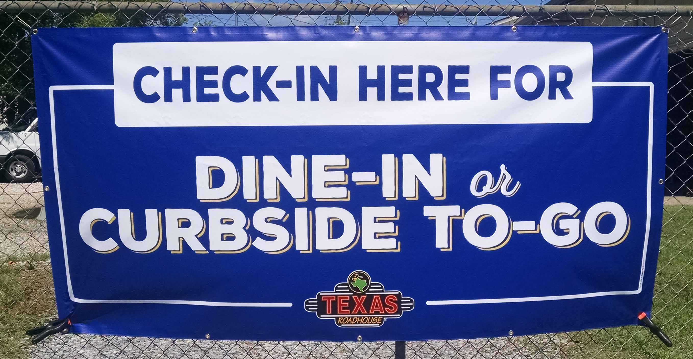 Restaurant Curbside Banner