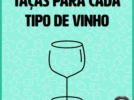 Taças para cada tipo de vinho