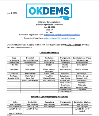 ODP Convention Call