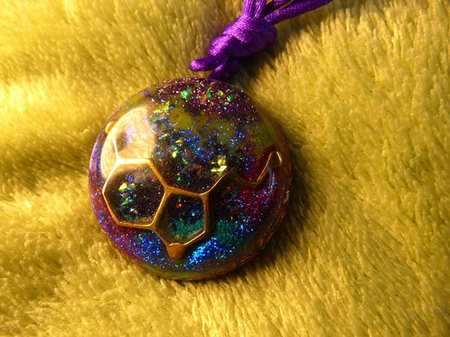 DNA Universe ORGONITE, orgonite necklace (large)