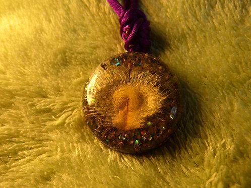 Feather ORGONITE, orgonite necklace (medium)