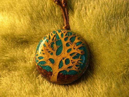 Tree (Ancient) ORGONITE, orgonite necklace (large)