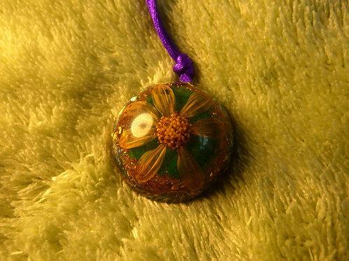 Flower ORGONITE, orgonite necklace (small-medium)