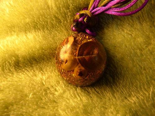 Golden Nature ORGONITE, orgonite necklace (small- medium)
