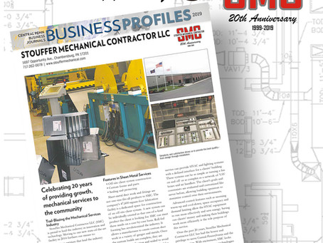 Celebrating 20 years of providing growth mechanical services to the community