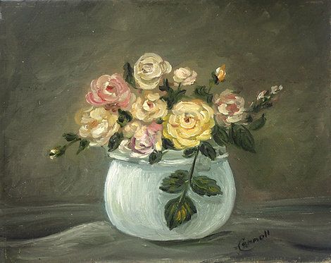 Little Roses in Vase
