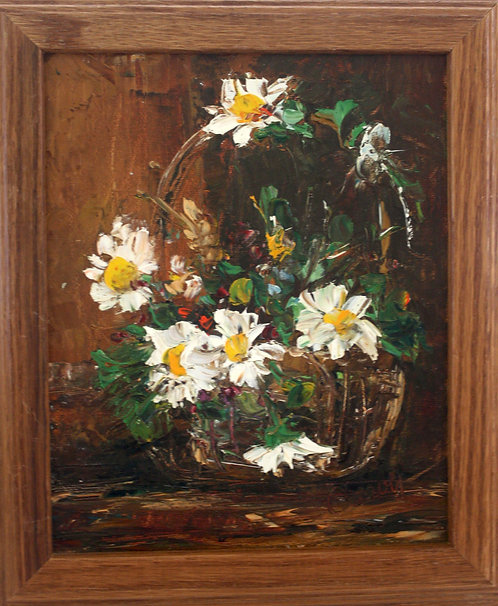 Abstract Basket of Daisies