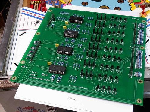 Carte driver Bally pour Leds ou lampes, générations 6 et 7 digits.