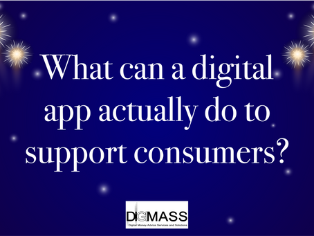 What can a digital app actually do to support a consumer?