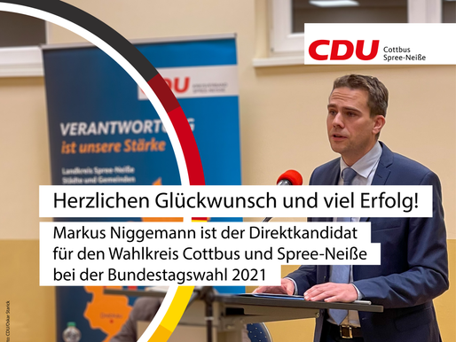 Markus Niggemann zum Direktkandidat von Cottbus & Spree-Neiße gewählt