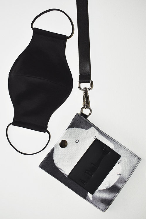 NECK POUCH BAG WITH 2 LAYER 100% COTTON FACE MASK