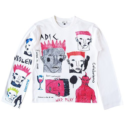 SS19 Faces - Printed sweatshirt