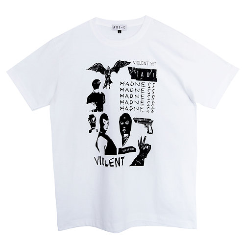 S/S19 Violent-Madness Print T-shirt