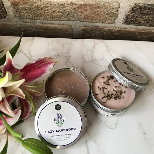 Combo Pack of 2 - Lazy Lavender Body Butter & Body Scrub