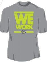 We Work - Grey Shirt - Lime Print