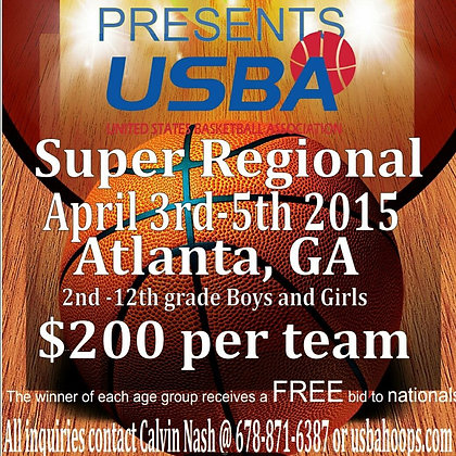 USBA Super Regional - Single Team Entry Fee