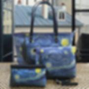 sac royal tapisserie van gogh nuit étoilée pochette trousse sac à main france