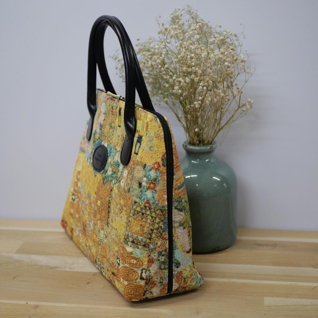 """Sac porté main Royal Tapisserie de la collection """"Klimt Le Baiser"""" (ref 8887.72) Royal Tapisserie / Handbag tapestry"""