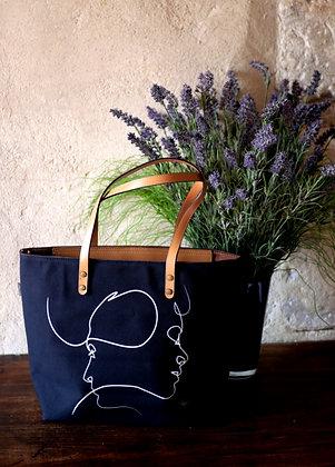 8976PN sac shopping Presque Noir de Quibe