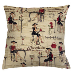 """Coussin """" Cocktail Girl """" - Royal Tapisserie cushion tapestry"""