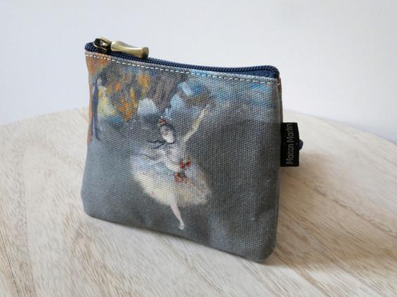 """Maison Martin par Royal Tapisserie porte-monnaie carré """"La Danseuse"""" d'Edgar Degas (référence 438D3)"""