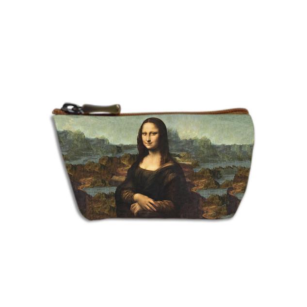 "Porte-monnaie zippé ""La Joconde"" de Leonard de Vinci Référence 419J1"